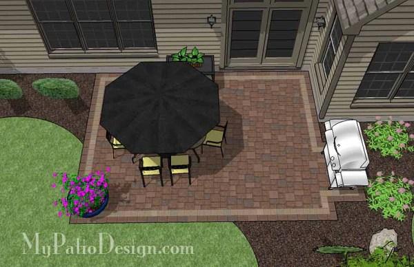 DIY Rectangular Patio Design | Downloadable Patio Plan ... on Rectangular Backyard Design id=80565