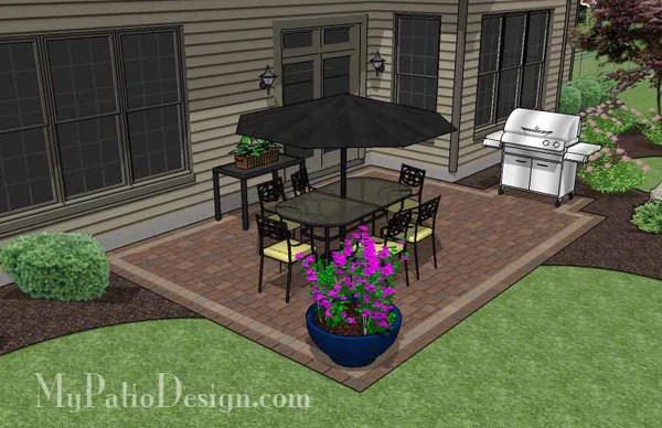 DIY Rectangular Patio Design | Downloadable Patio Plan ... on Landscaping Ideas For Rectangular Backyard  id=81008