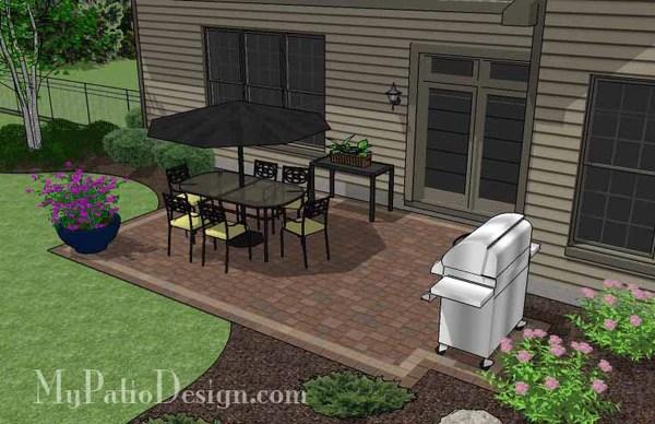 DIY Rectangular Patio Design | Downloadable Patio Plan ... on Rectangular Backyard Design id=33073