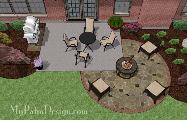Diy Stone Circle Patio Design Downloadable Plan