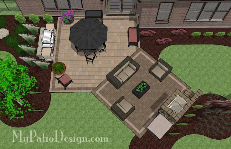 """Corner Patio Designs for 4' """"L"""" Shaped Homes ... on Patio Shape Designs id=27317"""