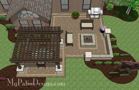 """Corner Patio Designs for 10' """"L"""" Shaped Homes ... on Patio Shape Designs id=58983"""