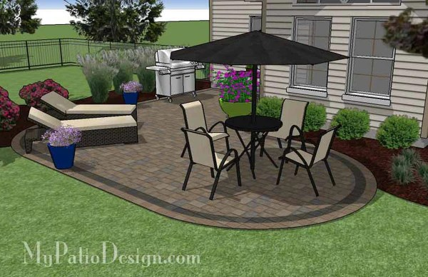 L Shaped Patio Design | Patio Layout and Material List ... on Patio Shape Designs id=49202