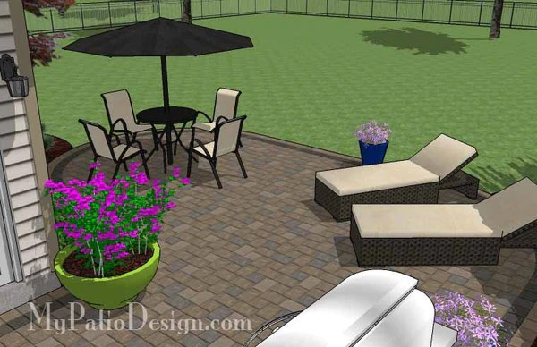 L Shaped Patio Design   Patio Layout and Material List ... on L Shaped Backyard Layout id=23735