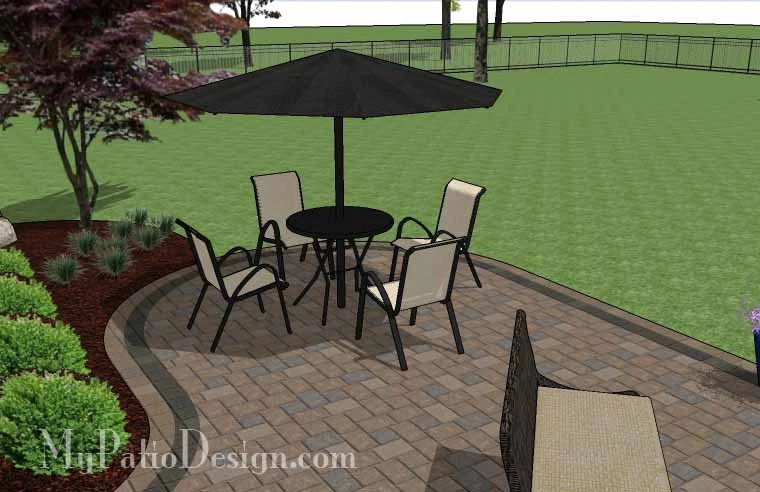L Shaped Patio Design with Fireplace | Download Plan ... on L Shaped Patio Ideas id=84865