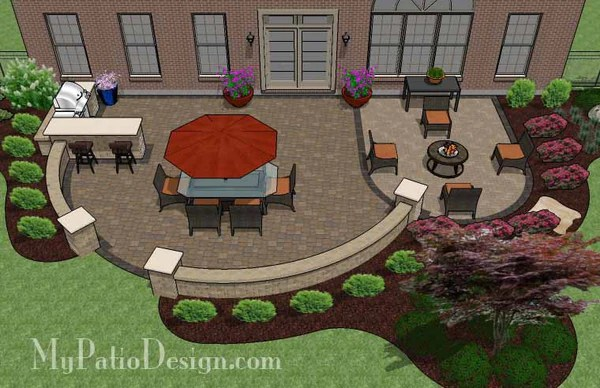 900 sq. ft. - Patio Design for Entertaining with Grill ... on Patio Grill Station  id=81318