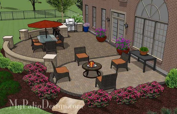 900 sq. ft. - Patio Design for Entertaining with Grill ... on Patio Grill Station  id=34272