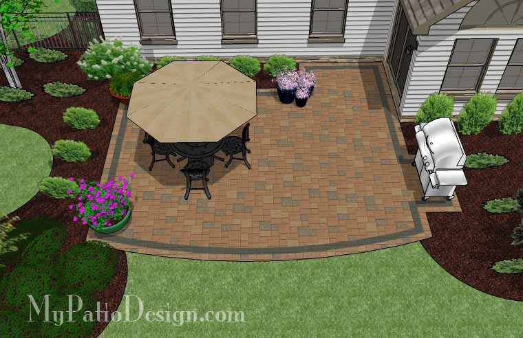 """Corner Patio Designs for 8' """"L"""" Shaped Homes ... on Patio Shape Designs id=46800"""