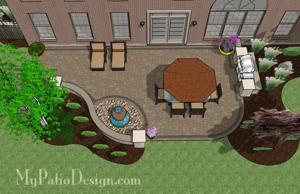 Relaxing Backyard Patio Plan | Layout and Material List ... on Backyard Layout Planner  id=88233