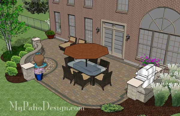 Relaxing Backyard Patio Plan Layout And Material List