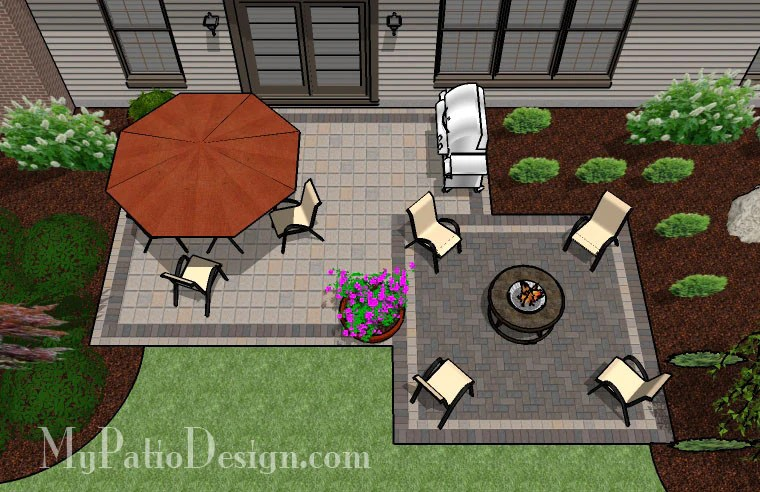 Simple and Affordable Brick Patio Design | Downloadable ... on My Patio Design id=15931