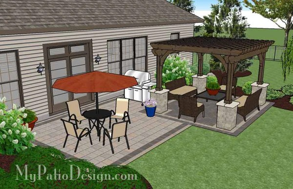 470 sq. ft. - Simple and Affordable Brick Patio Design ... on Simple Concrete Patio Designs id=64373