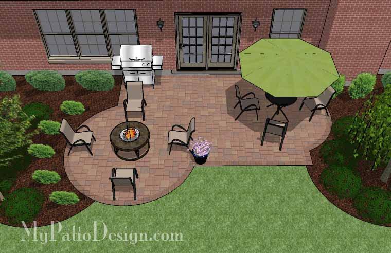 310 sq ft small backyard patio design