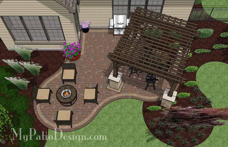corner patio design for 6 l shaped