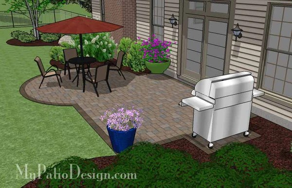 Small Patio Design on a Budget | Download Plan ... on Backyard Patios On A Budget id=92849