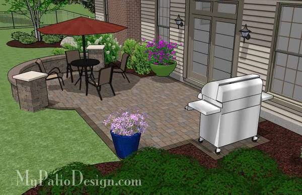 290 sq. ft. - Small Patio Design on a Budget with Seat ... on Backyard Patio Designs On A Budget id=47347