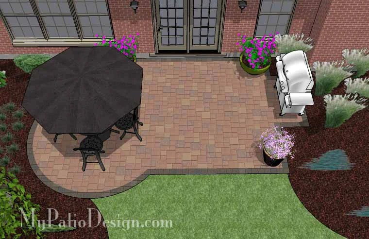Small Paver Patio Design | Patio Layout and Material List ... on Small Backyard Brick Patio Ideas  id=67739