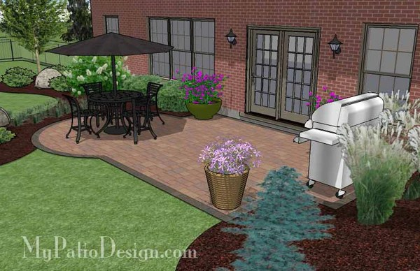 Small Paver Patio Design   Patio Layout and Material List ... on Small Paver Patio Designs id=81669