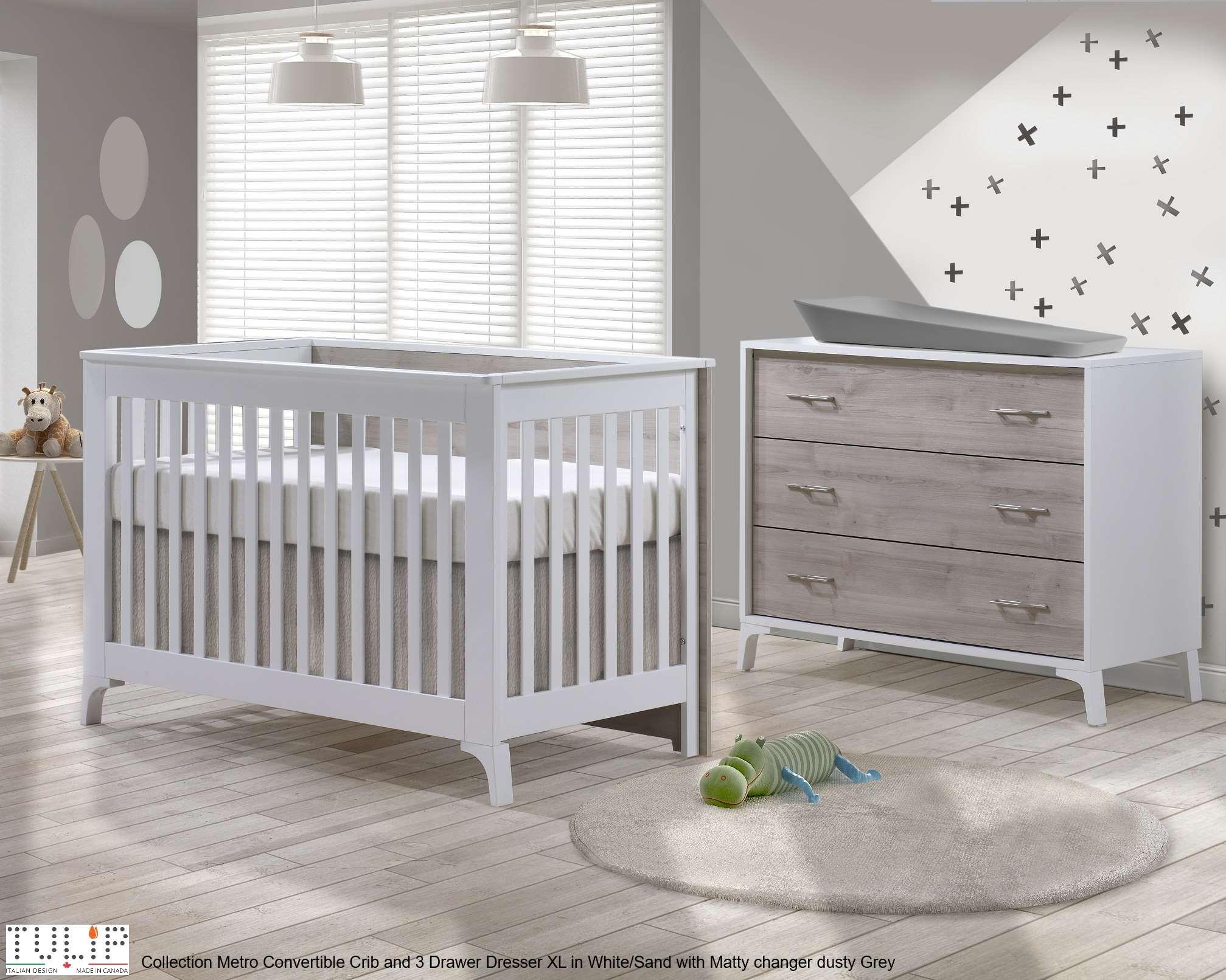 tulip metro crib and dresser combo