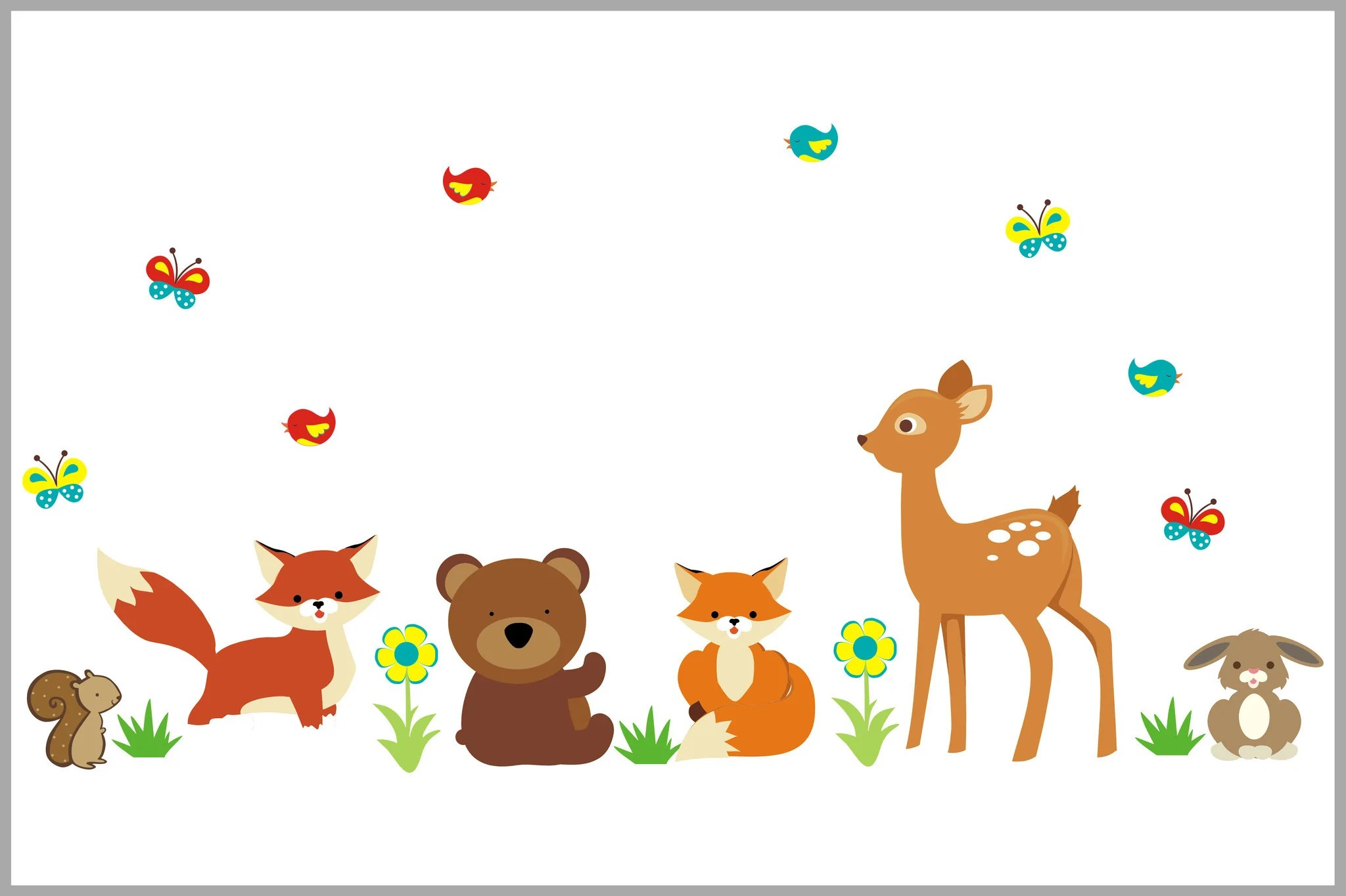 Is acquired by instaragf asset management inc. Forest Wall Stickers Deer Rabbit Fox Squirrel Birds Nurserydecals4you