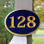 Custom Carved Oval House Number With Recessed Numbers The Carving Company