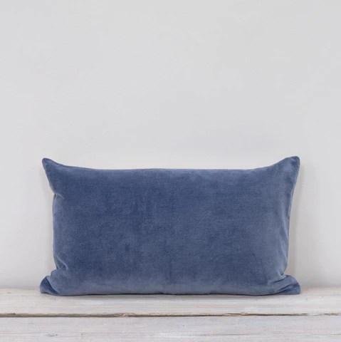 velvet rectangle cushion fjord