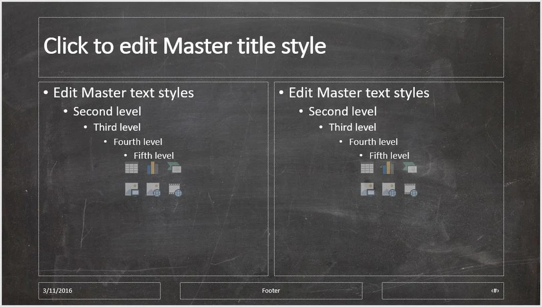 Black Chalkboard Background PowerPoint Presentation Template Clickstarters
