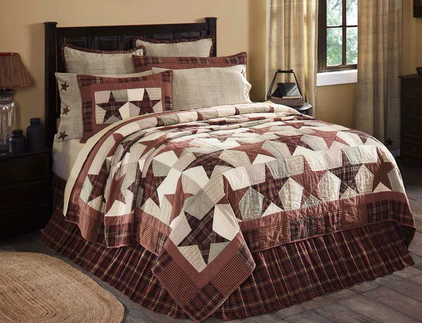 Abilene Star King Quilt 110Wx97L Allysons Place