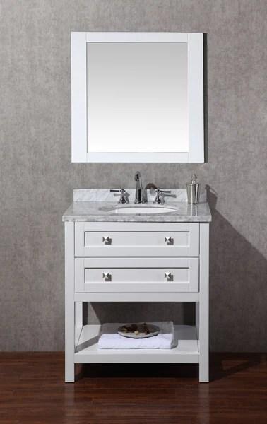 marla 30 inch single sink bathroom vanity with mirror