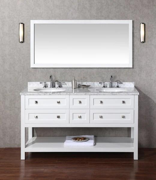 marla 60 inch double sink bathroom vanity with mirror