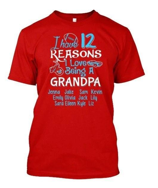 "Download ""N Reasons I Love Being Grandpa"" Custom Shirt( 70% Off ..."