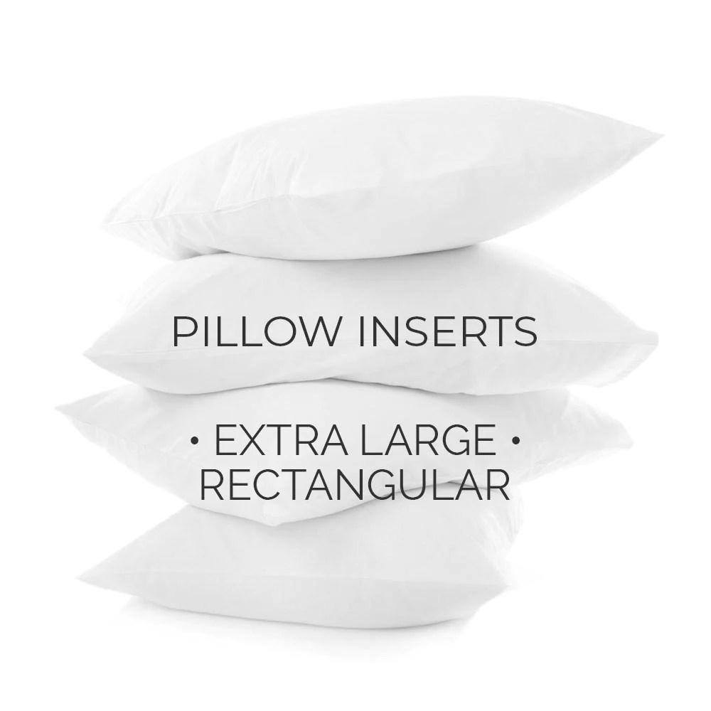 pillow inserts extra large rectangular sizes