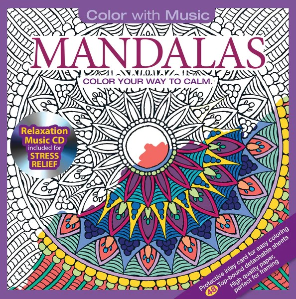 Mandalas Adult Coloring Book With Relaxation CD - Color ...   coloring books for adults mandala