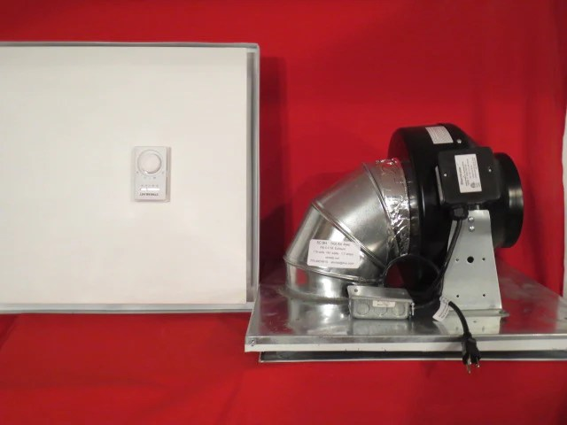 sc 6h 435cfm drop ceiling exhaust fan horizontal exhaust small server rooms offices cools to 500 sq ft