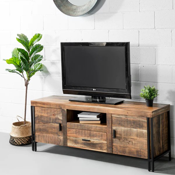 tv en bois naturel wazo furniture