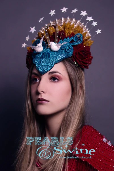 Virgin Mary Headdress Queen Of Angels PearlsandSwine