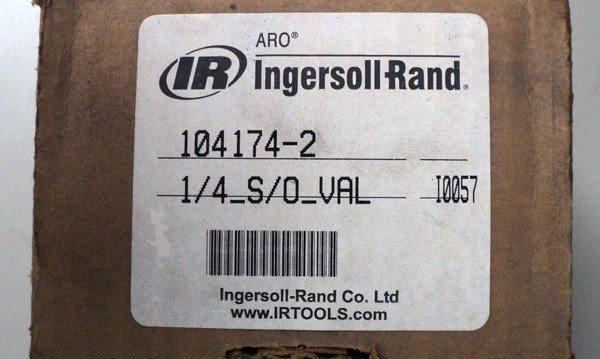 Ingersoll Rand Lock-Out Valve - 104174-2 – QT Equipment