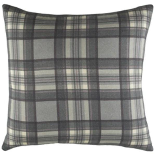 gray plaid pillow revibe designs
