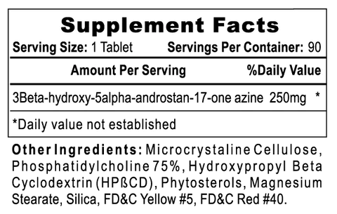 Dymethazine Supplement Facts