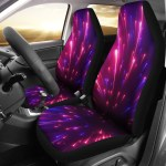 Celestial Purple Blue Neon Speed Light Universal Fit Car Seat Covers Jorjune