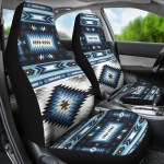 Flying Banner Black And Blue 2 Front Lichee Pattern Pu Leather Sporty Car Seat Covers With Football Pattern Embroidery Design Car Accessories Seat Covers Supports