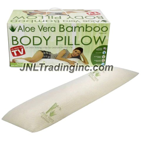as seen on tv aloe vera bamboo body pillow with pressure relieving memory foam cooling tech hypo allergenic aloe vera bamboo infused cover