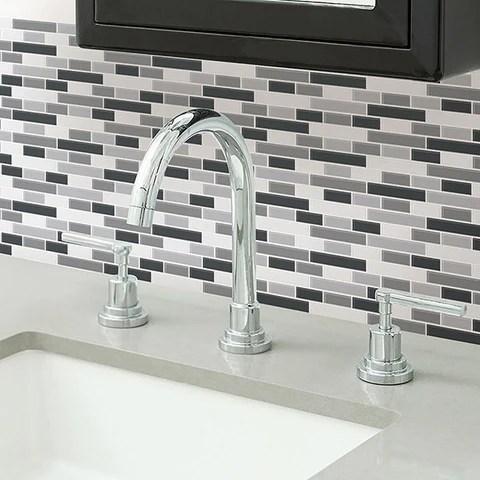 nh2362 smoked glass peel stick backsplash tiles by inhome wallpops uk