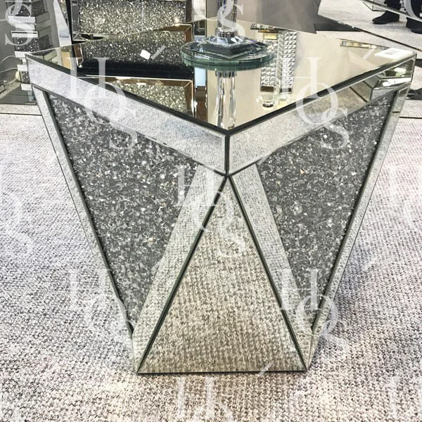 Diamond Crush V Side Table House Of Sparkles