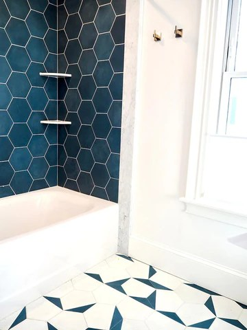 cement solid federal blue hex 8 x9 x5 8