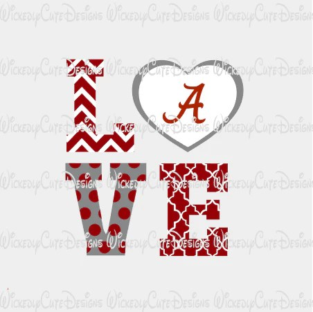 Download Love Alabama SVG, DXF, EPS, PNG Digital File - Wickedly ...
