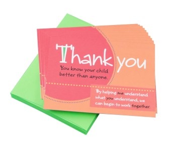 """""""You know your child"""" Thank You Note Cards"""
