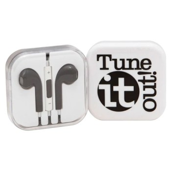 Tune IT Out! Earbuds (Assorted Colors) Peachy Halloween Teacher Gift Prize