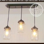 Mason Jar Chandelier Light Rectangular With Vintage Quarts The Lamp Goods