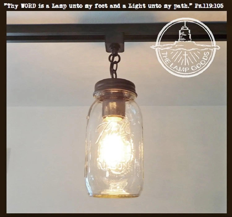 mason jar track lighting new quart single